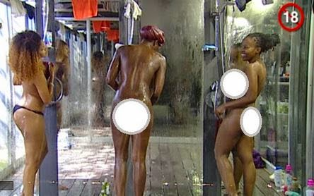 #BBAHotshots: Day 17 Shower Hour – Goitse, Samantha, Ellah