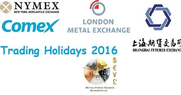 Forex holidays 2016