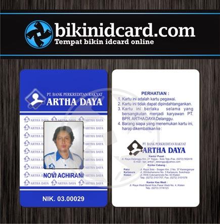 cetak id card pegawai bpr
