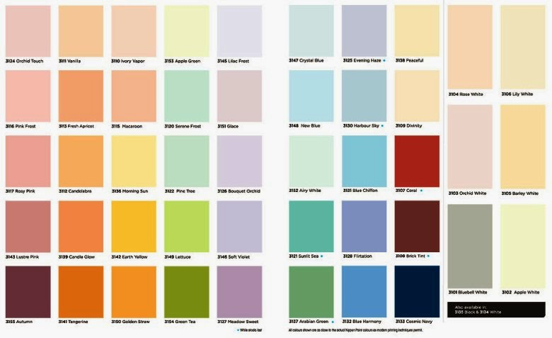 17 Decorative Crown Paint Colour Chart