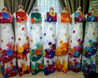 Mukena bali motif matahari