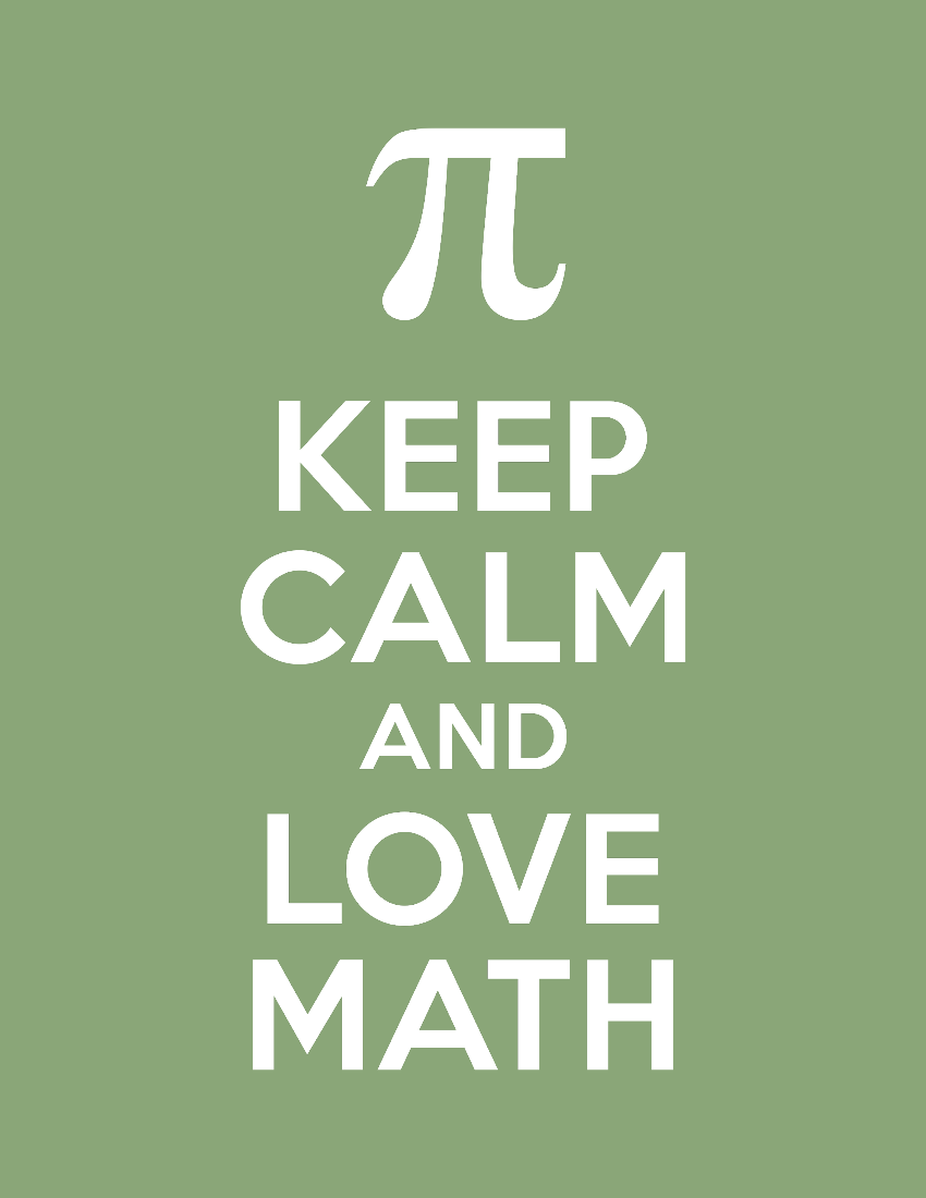 free to download keep calm love math