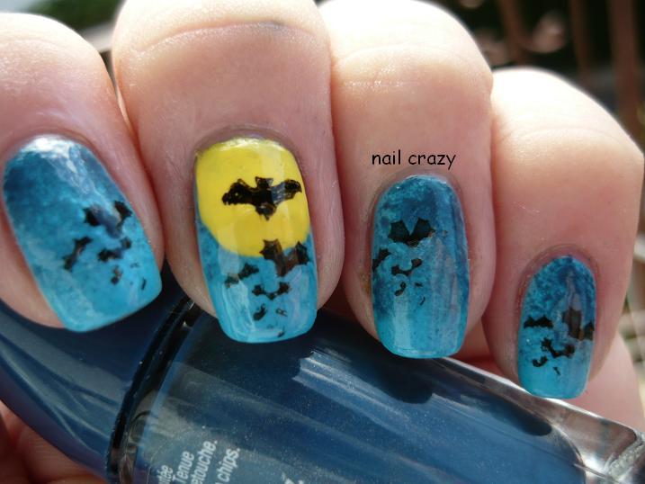 Nail crazy: Halloween Nail Art Challenge - Bat