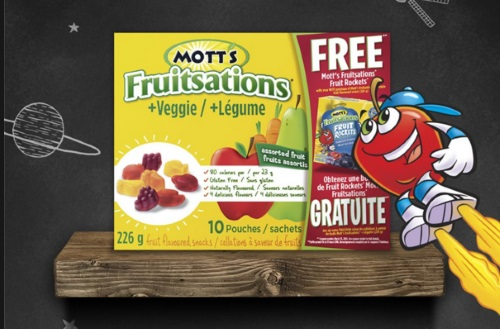 Mott's Fruitsations Free Fruit Rockets Coupon