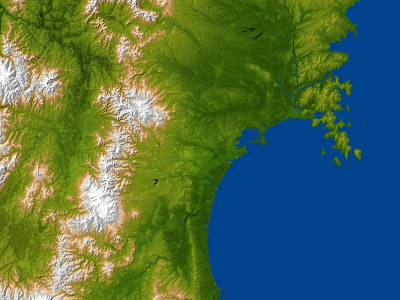 NASA Radar Image Shows Topography of Sendai