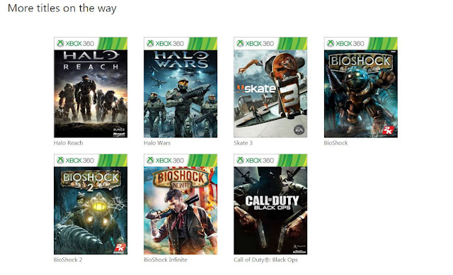 xbox one  backward compatibility coming soon halo reach halo wars skate 3 bioshock call of duty black ops