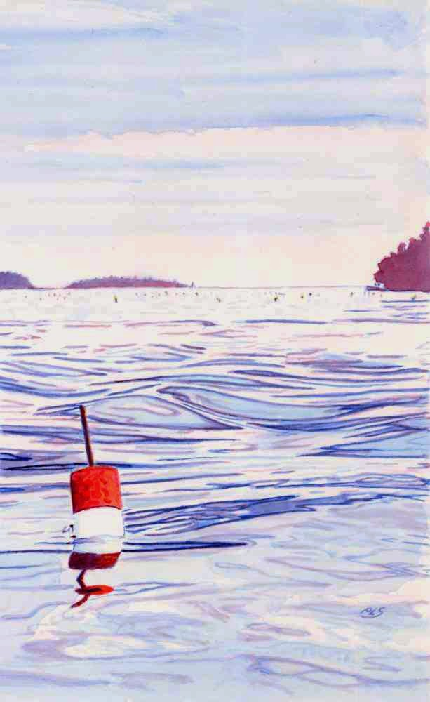 Red-And-White Buoy