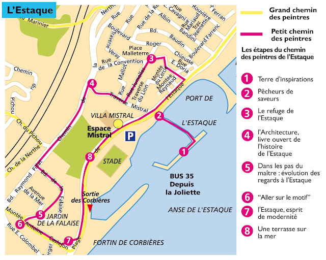 map of L'Estaque painters tour