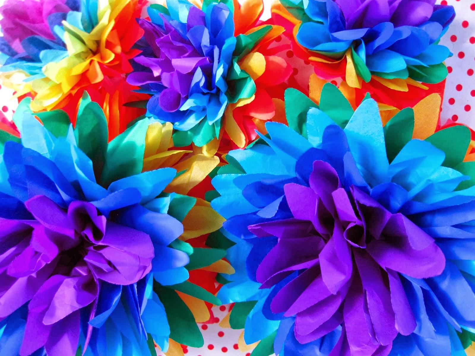 rainbow flower background - photo #16
