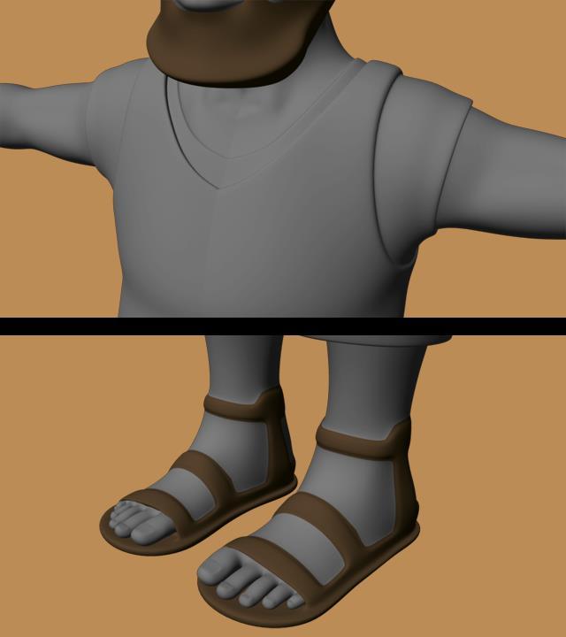 Boobah   modeling progress by Evil Boobahs