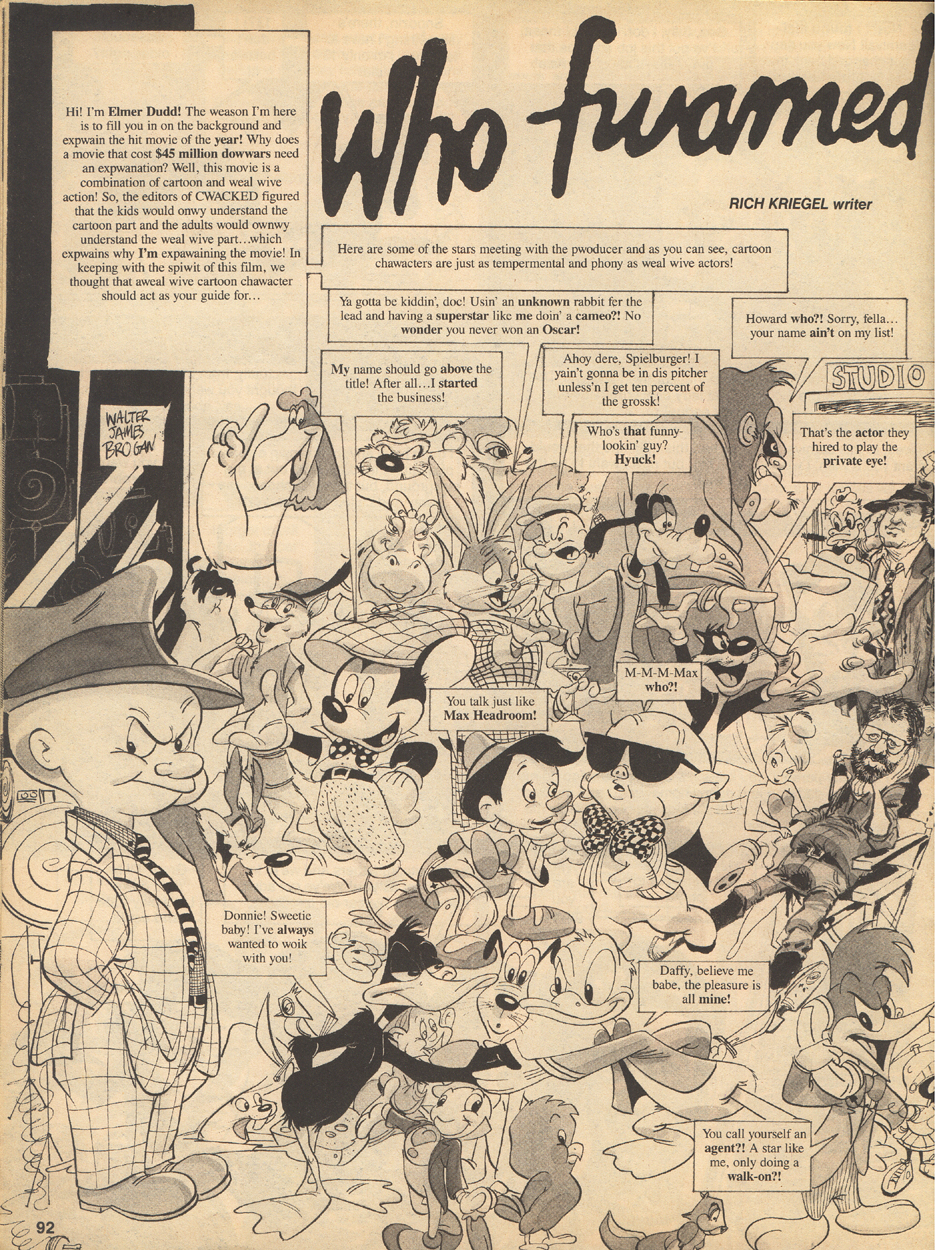 Inside A Cartoonist\'s Mind: Classic Cracked: Who Framed Roger Wabbit