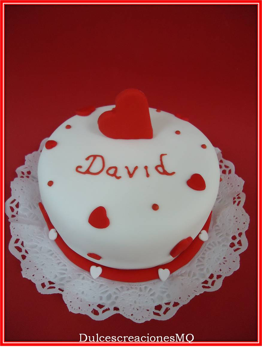 Bizcocho Victoria Sponge Cake Buttercrea Chocolate con leche Fruta de la Pasión Fondant San Valentín Tarta Enamorados Pastel Romántico