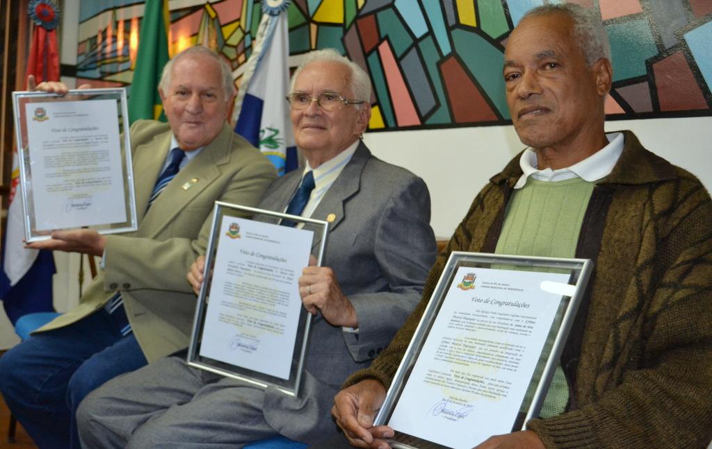 Os homenageados pela Câmara Municipal de Teresópolis