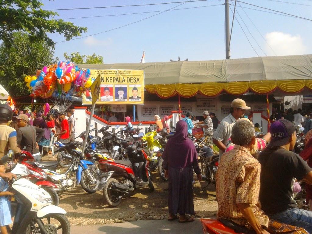 Antusias Warga Kayen Untuk Memilih Kepala Desa