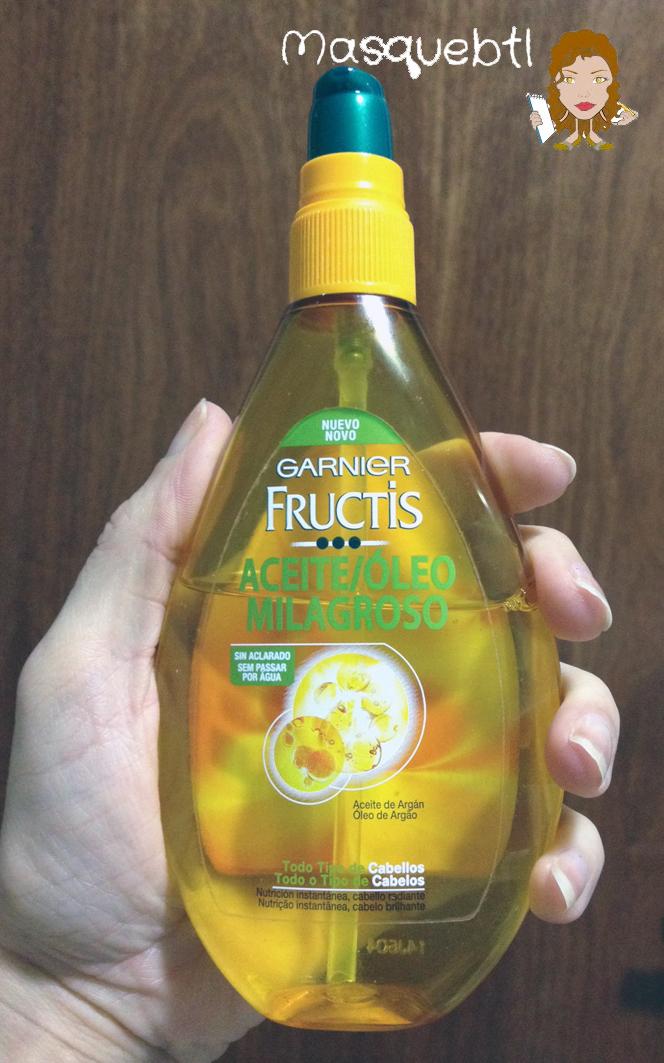 He probado Aceite milagroso de Garnier Fructis