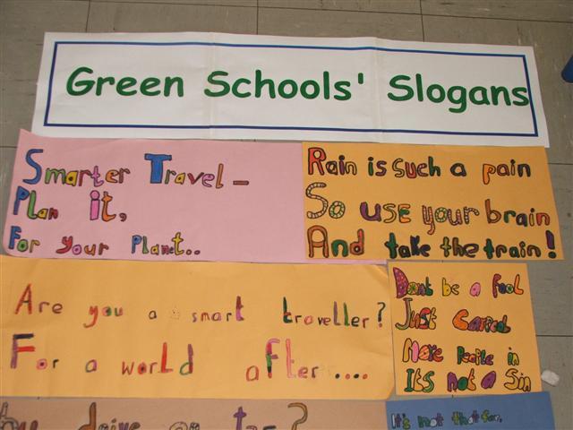 Green Schools Slogan Competition On Travel Feb 2011 St Thomas