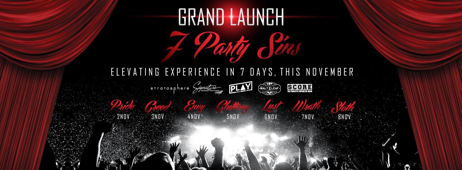 7 Party Sins Upcoming Parties @ The Roof 1 First Avenue