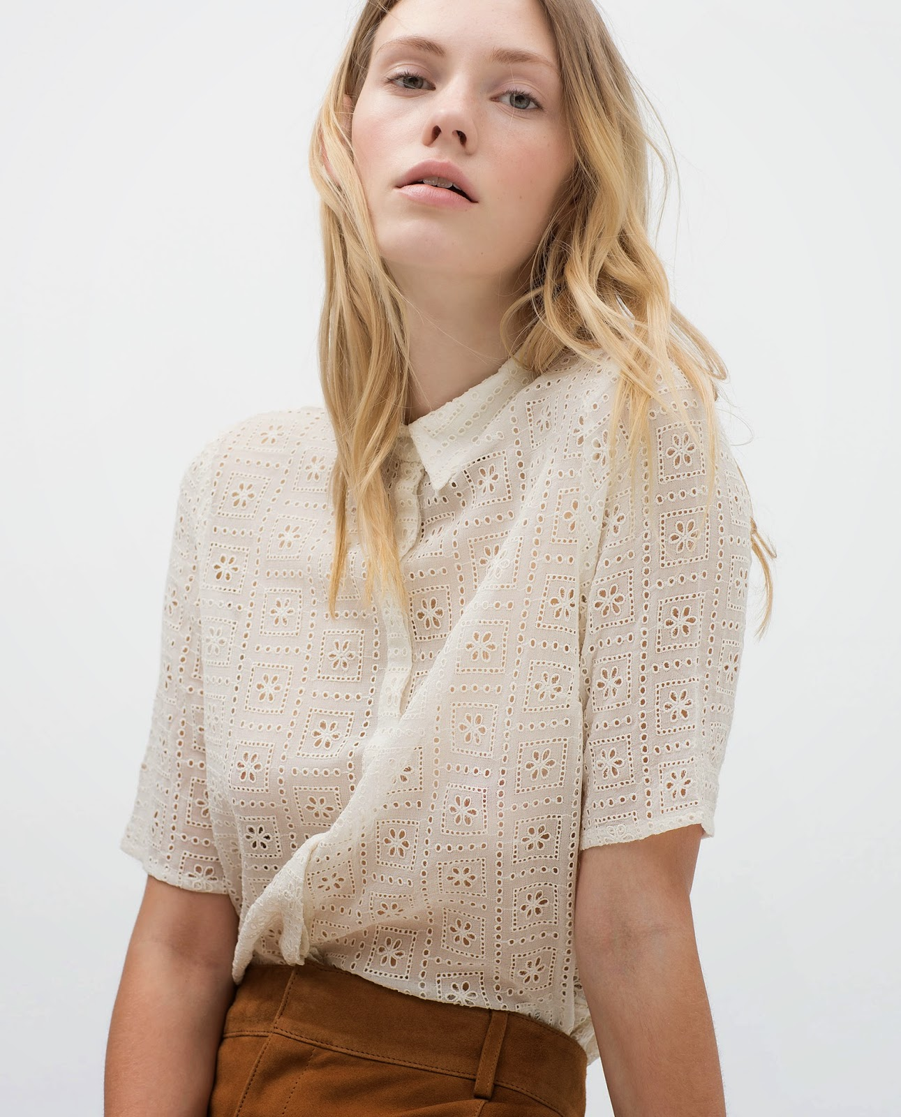zara embroidered shirt,