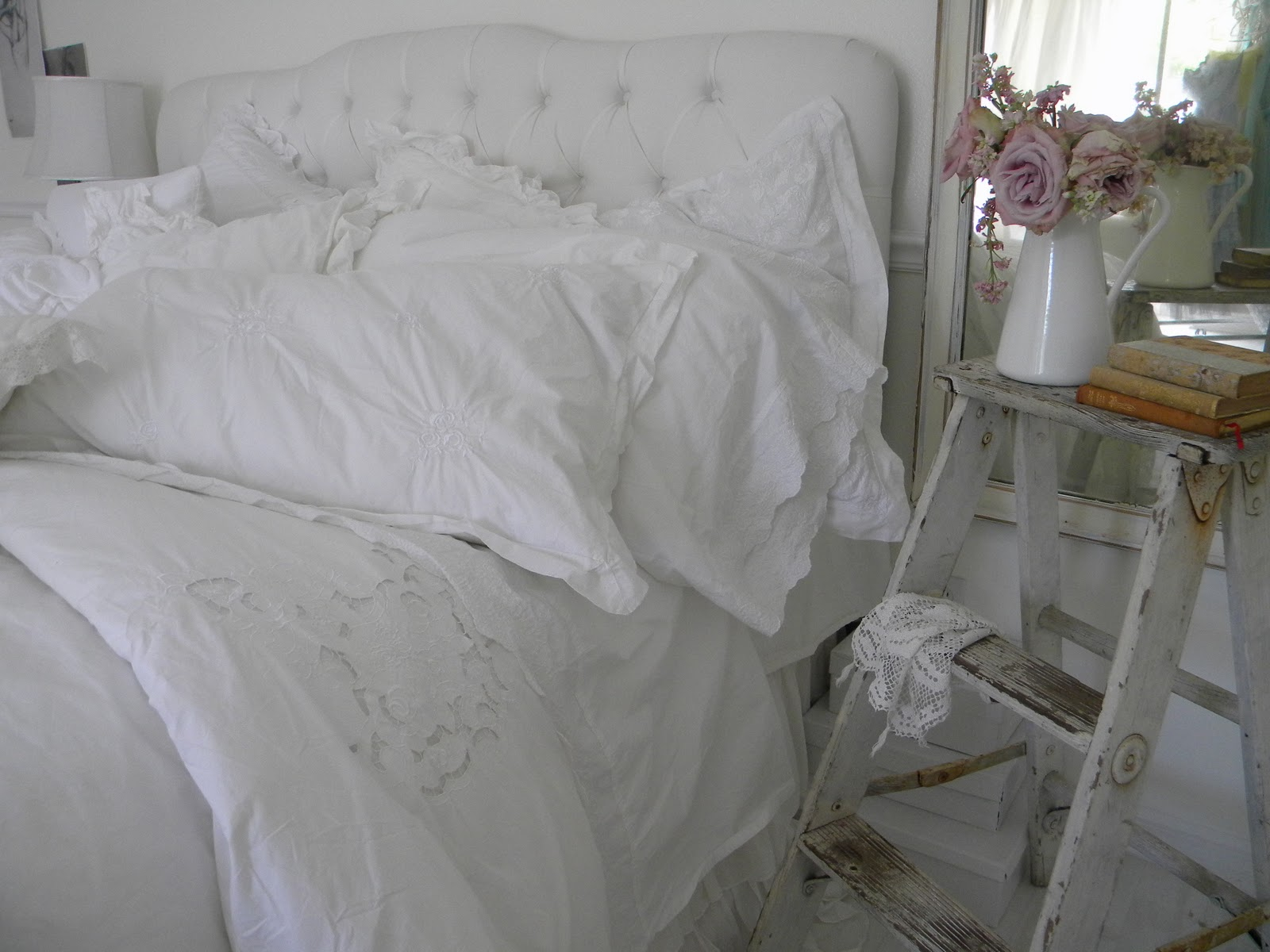 simply me white bedding for spring. Black Bedroom Furniture Sets. Home Design Ideas