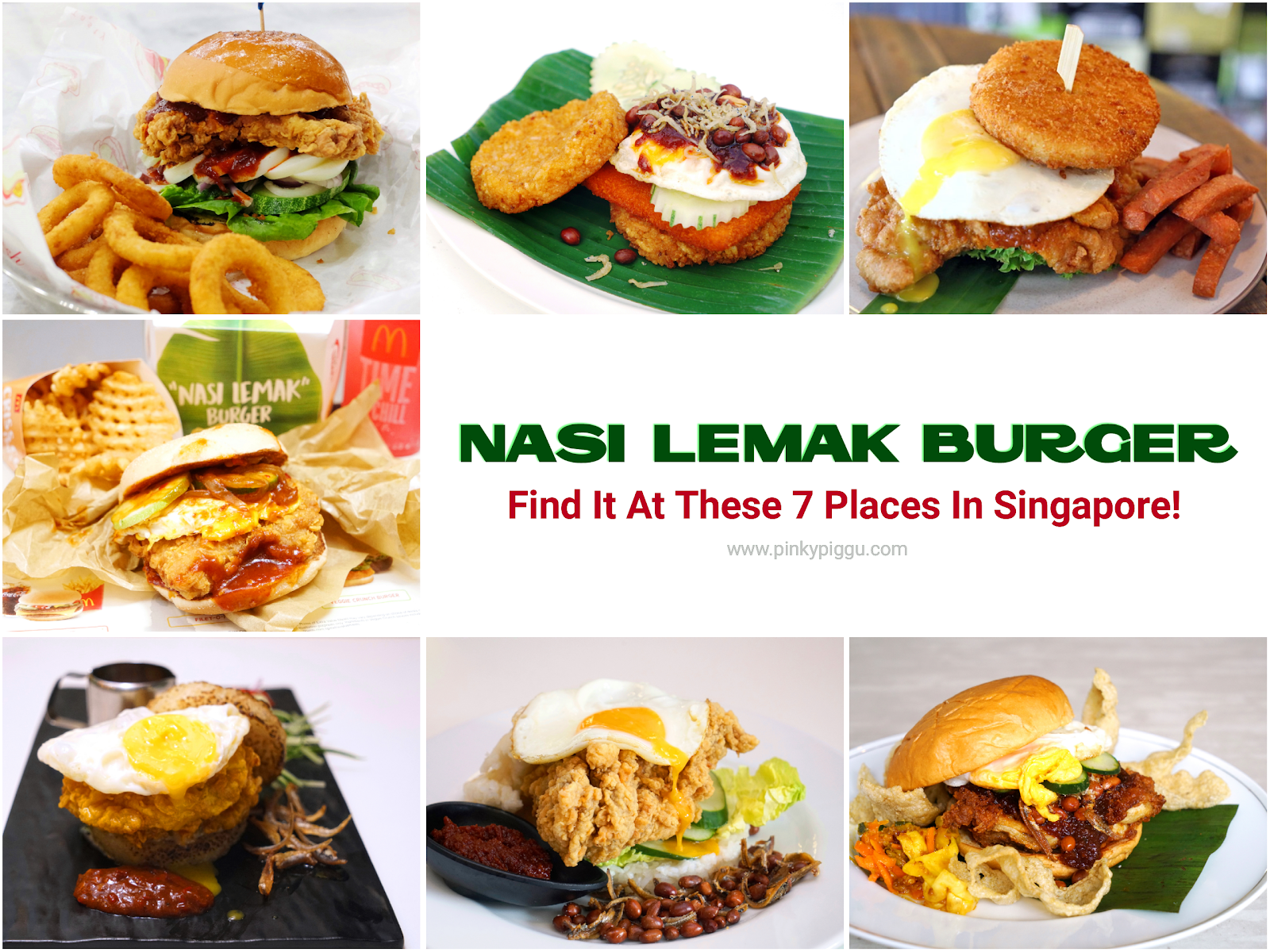 NASI LEMAK BURGER! Find It At These 7 Places In Singapore!