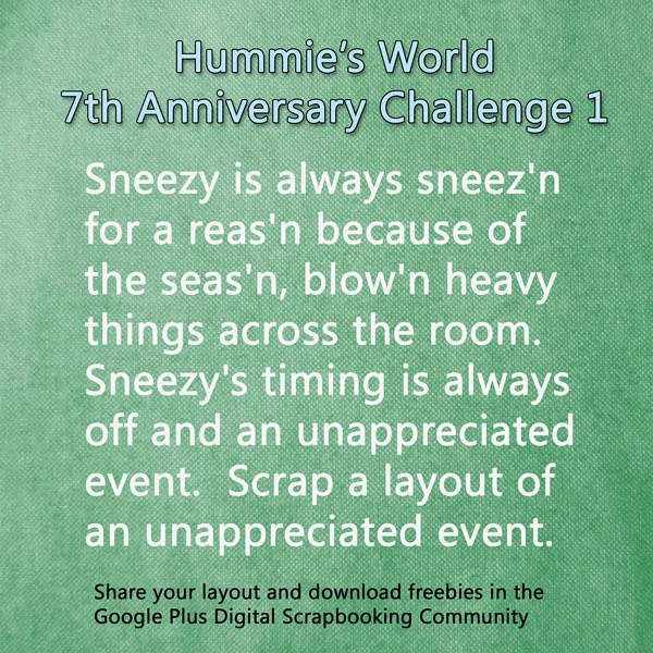 Challenge 1 and Day 1 Freebie
