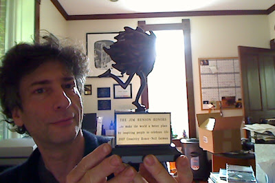 Me, just now, with my Jim Henson Creativity Honour (2007)