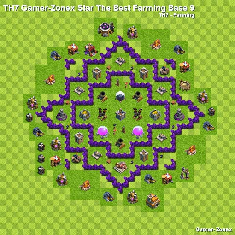 Farming base 7 th7 gamer zonex star farming base 8