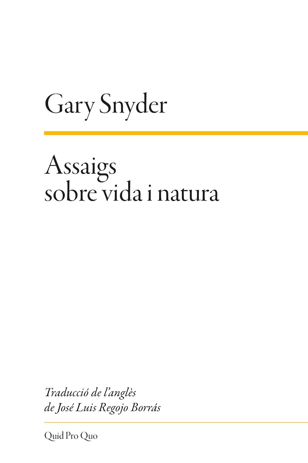 Assaigs sobre vida i natura. 2019