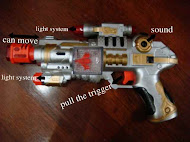 New Space Gun w Light &Sound,SALE!!!RM10 only!!!