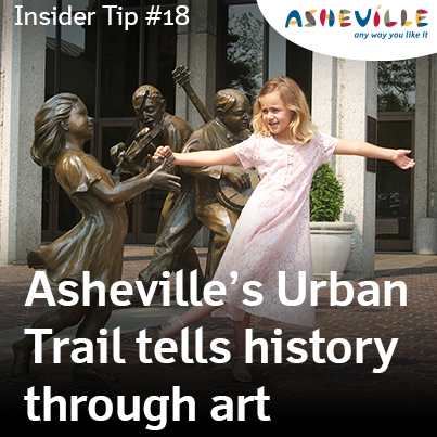 Asheville Insider Tip: The Urban Trail is a free history tour of Asheville.
