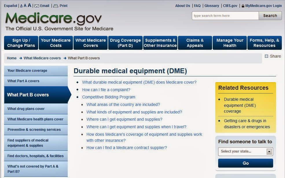 http://www.medicare.gov/what-medicare-covers/part-b/durable-medical-equipment.html