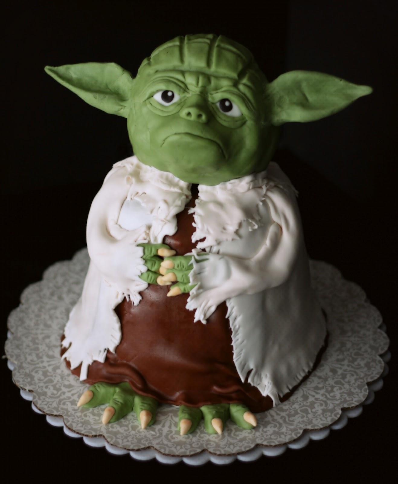 Yoda Edible Cake Image