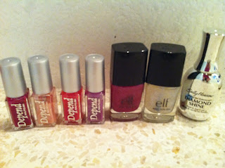 Depend nailpolishes e.l.f sally hansen