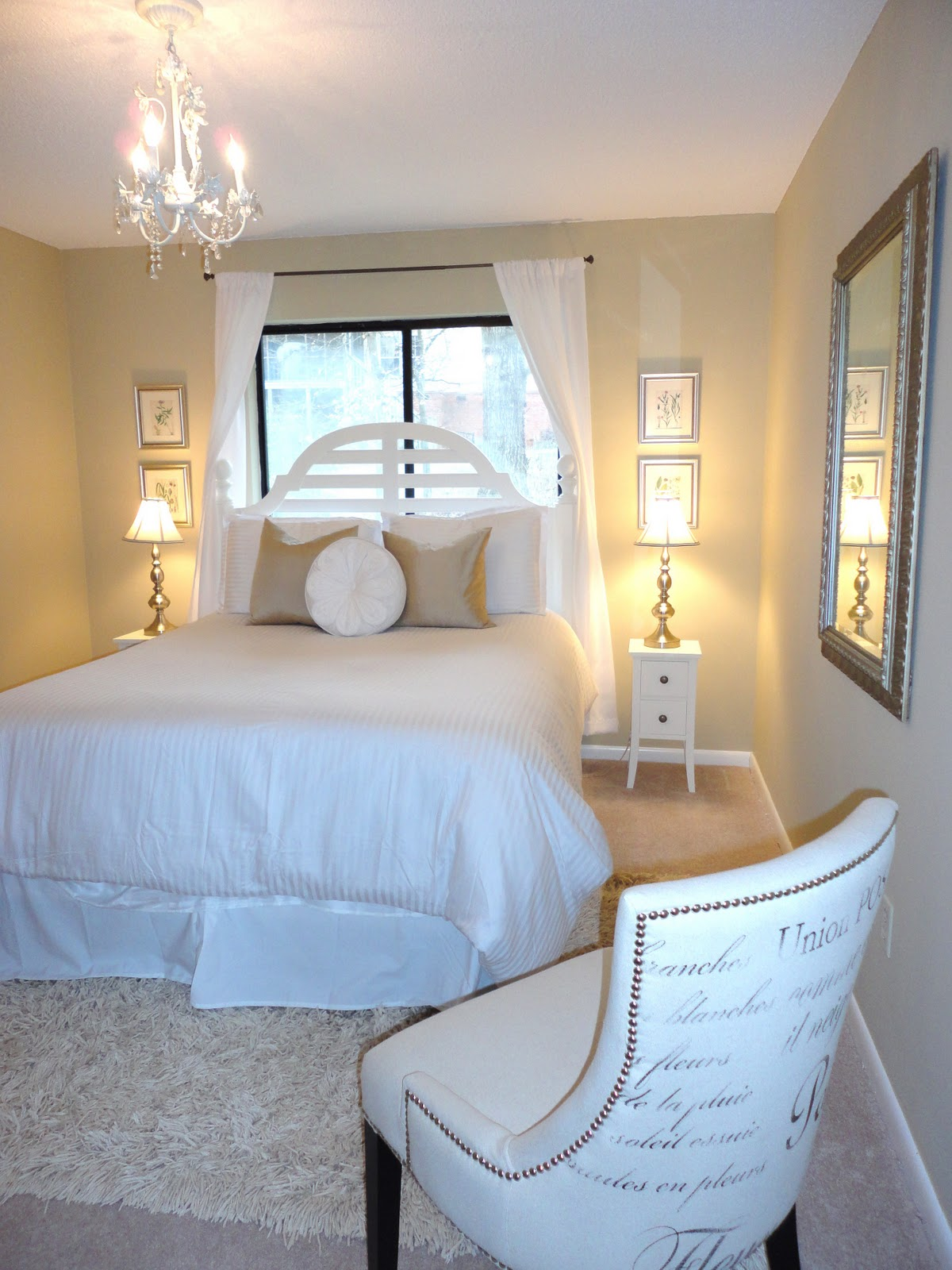Livelovediy guest bedroom makeover for Small neutral bedroom ideas
