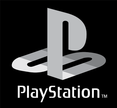 Logo de Playstation en blanco y negro