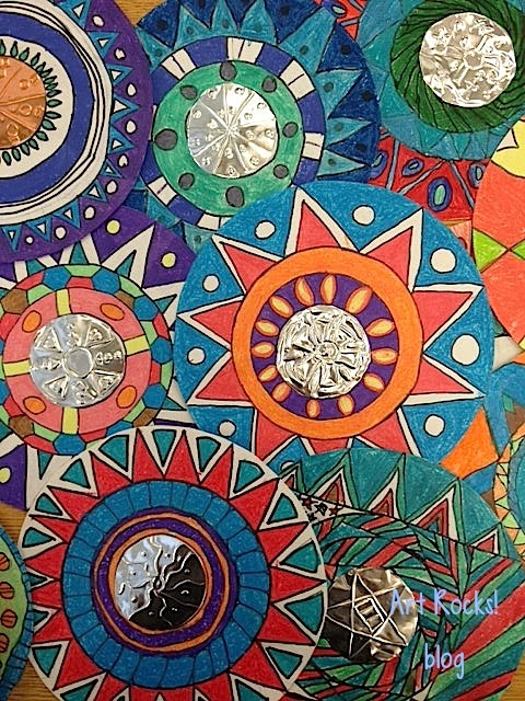 Radial Design Art : Art rocks grade radial designs