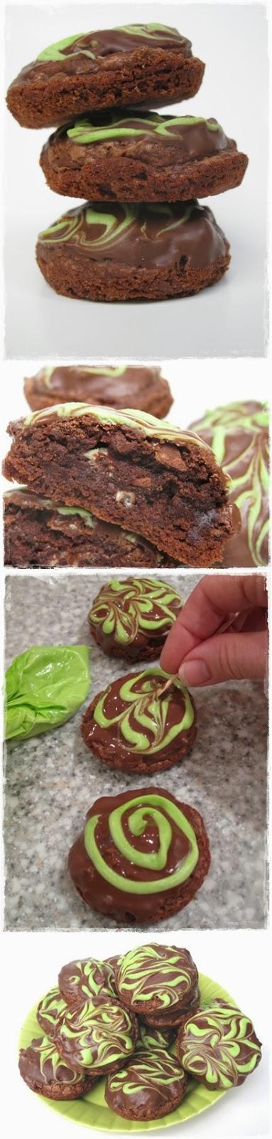 CHOCOLATE MINT TRUFFLE BROWNIE BITES, CHOCOLATE, TRUFFLE