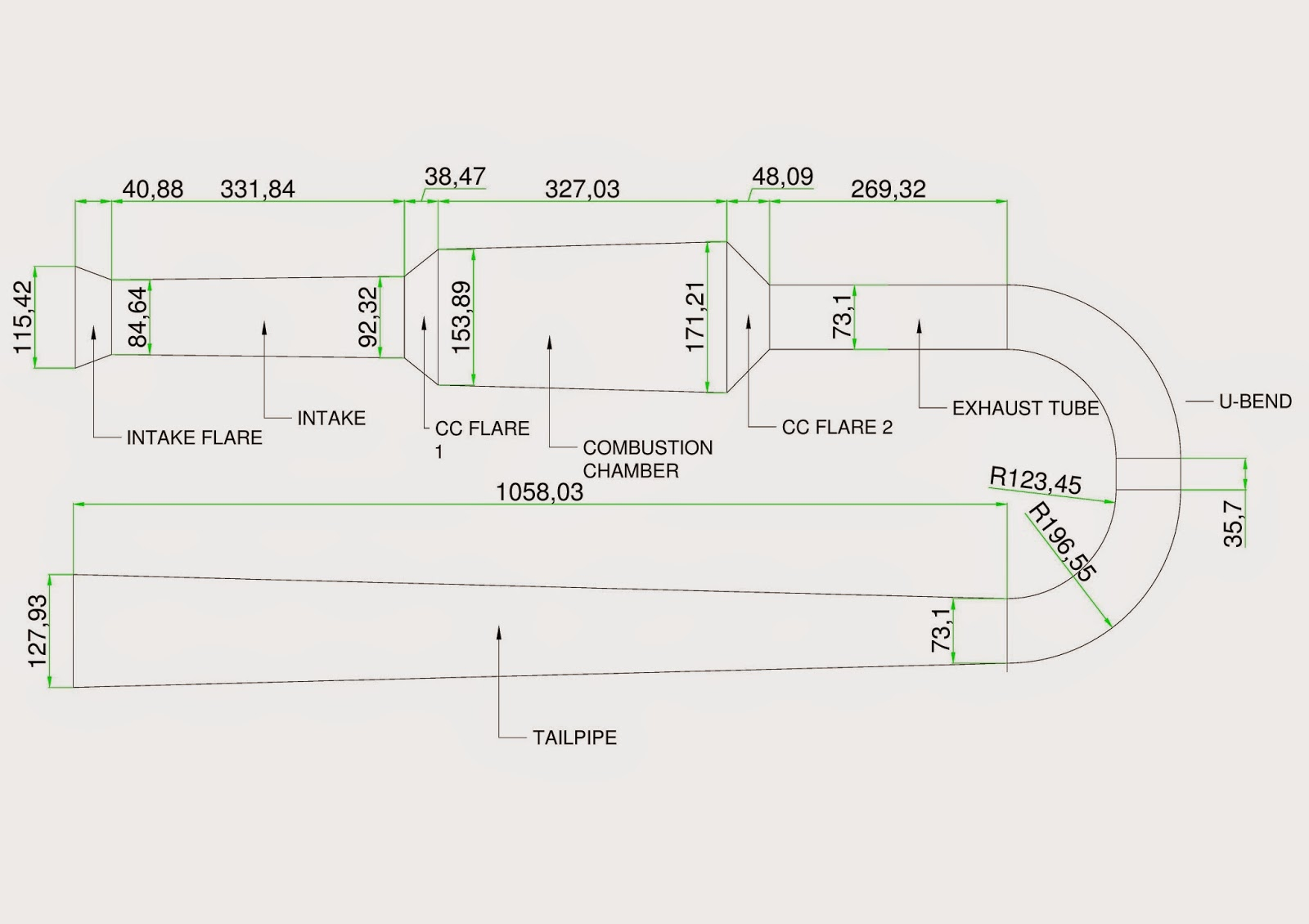 V Pulse Jet Engine Design