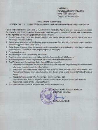 Pengumuman Kelulusan Test CPNS K2 Kemenag Kementerian Agama Tahun 2013 dari Pelamar Umum (5)