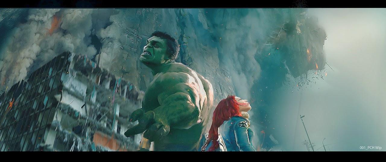 """Hulk y la Viuda Negra en """"Los Vengadores: La Era de Ultron"""""""