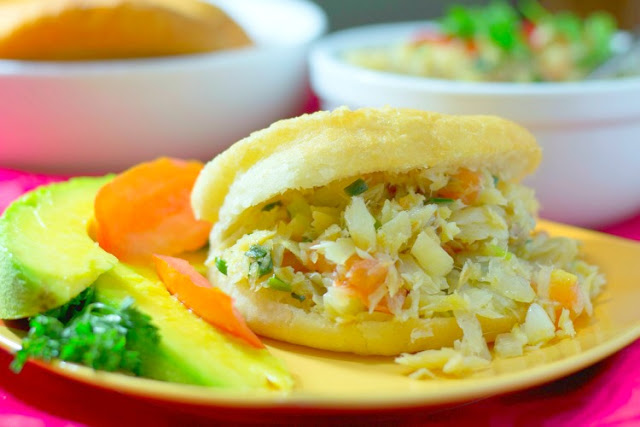 Bake and Saltfish: A classic Caribbean breakfast with fried bake and saltfish (cod)