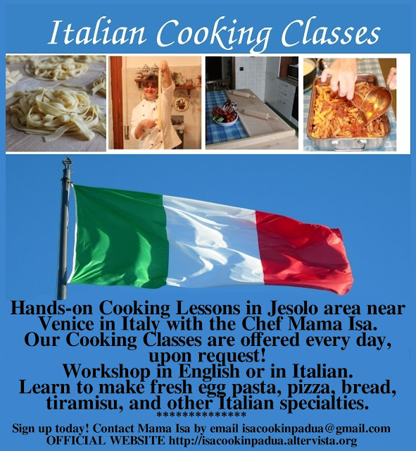 Cookery Courses with Mama Isa near Jesolo in Padova Italy