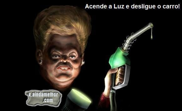 charge com a dilma