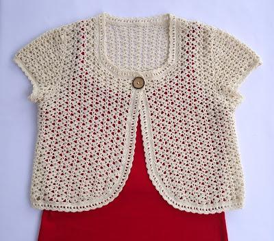 Crochet Pattern Central Bolero Dancox For