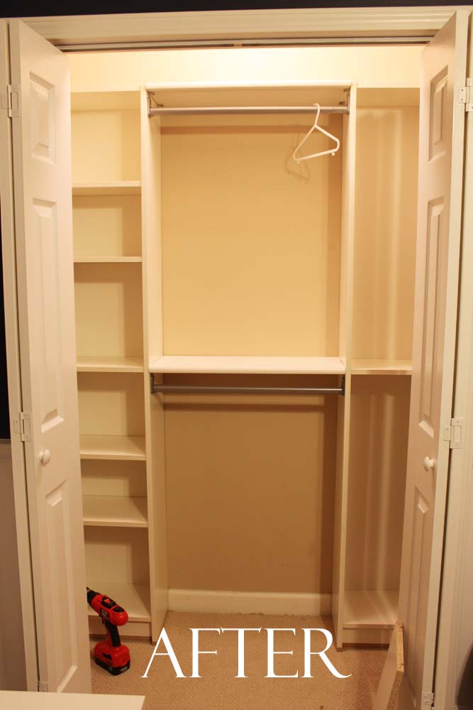 peach street 39 s blog our under 100 closet system ikea hack. Black Bedroom Furniture Sets. Home Design Ideas
