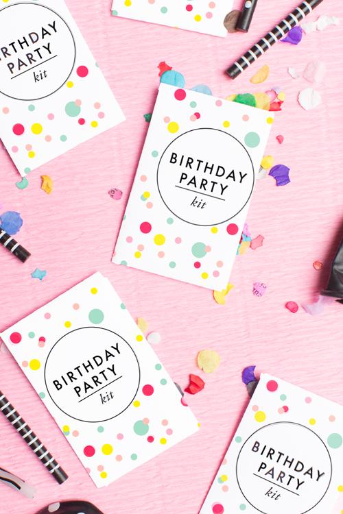 free printable birthday party kit