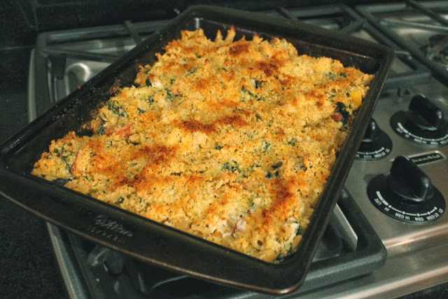 LL CREATIVE: Butternut Squash and Kale Pasta Bake with Chicken Sausage