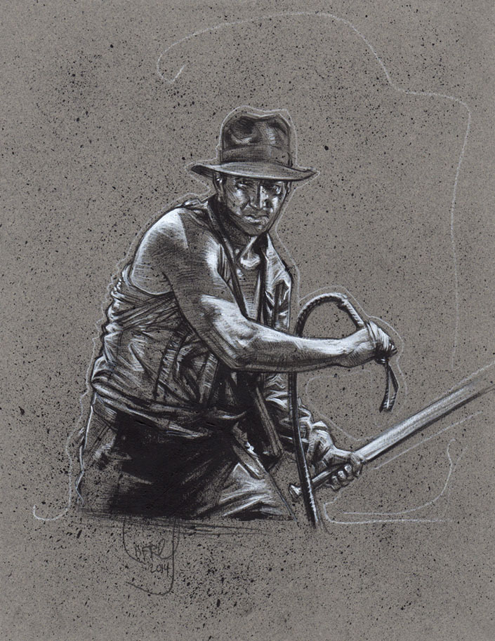 Indiana Jones, Artwork is Copyright © 2014 Jeff Lafferty