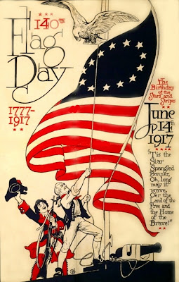 Flag Day Poster Clip Art