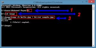 Hide a massage into image using Command prompt